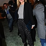 Kate Moss knows how to rock leopard print — especially with a tuxedo jacket — at Topshop Unique.