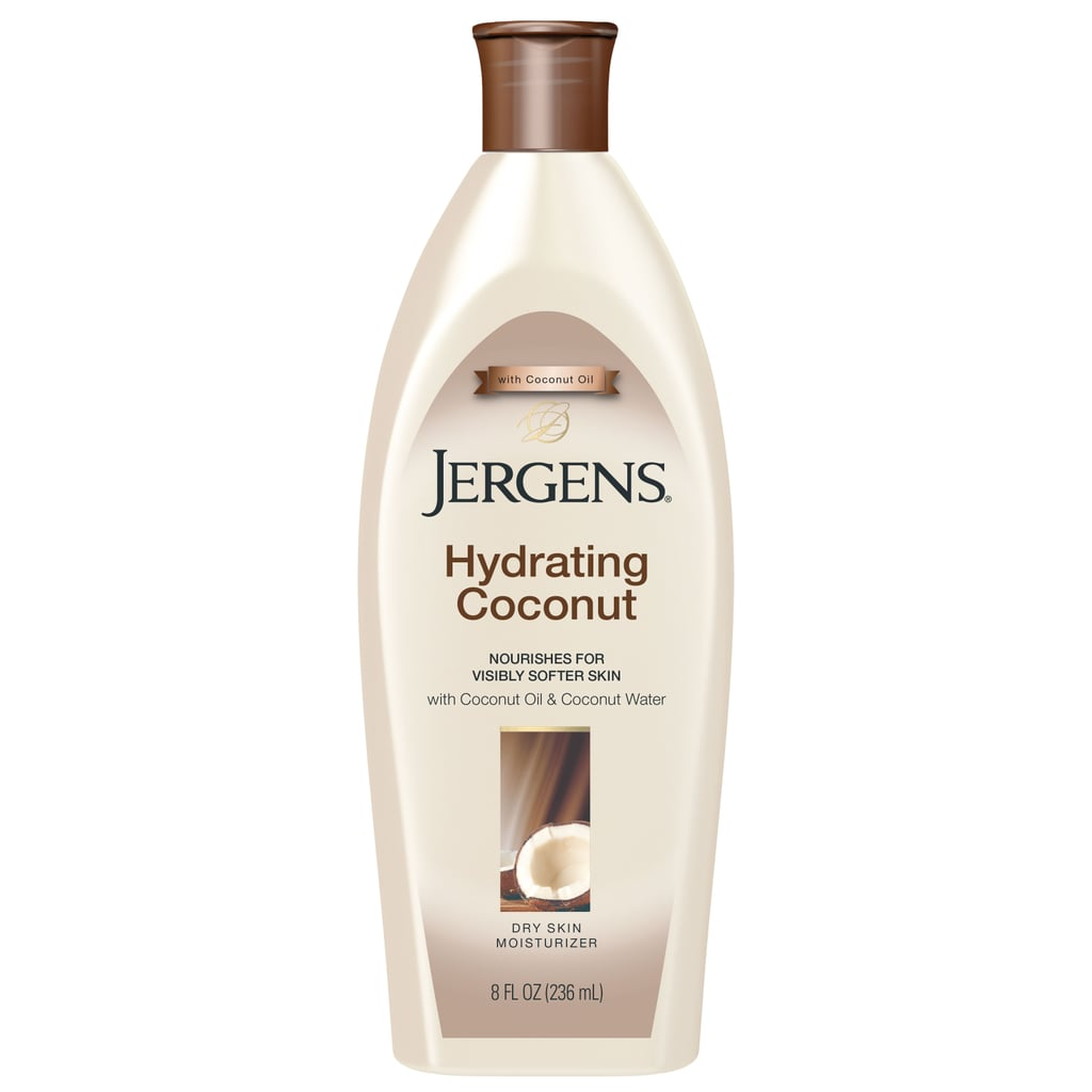 """""""The coconut smell is incredible and it gives your skin a luxuriously soft feel. It is the perfect stocking stuffer!""""    Jergens Hydrating Coconut Dry Skin Moisturizer  ($7)"""