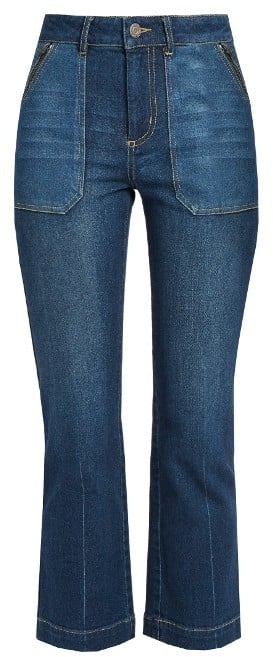 Rebecca Taylor Denim Kick Flare Jeans ($295)