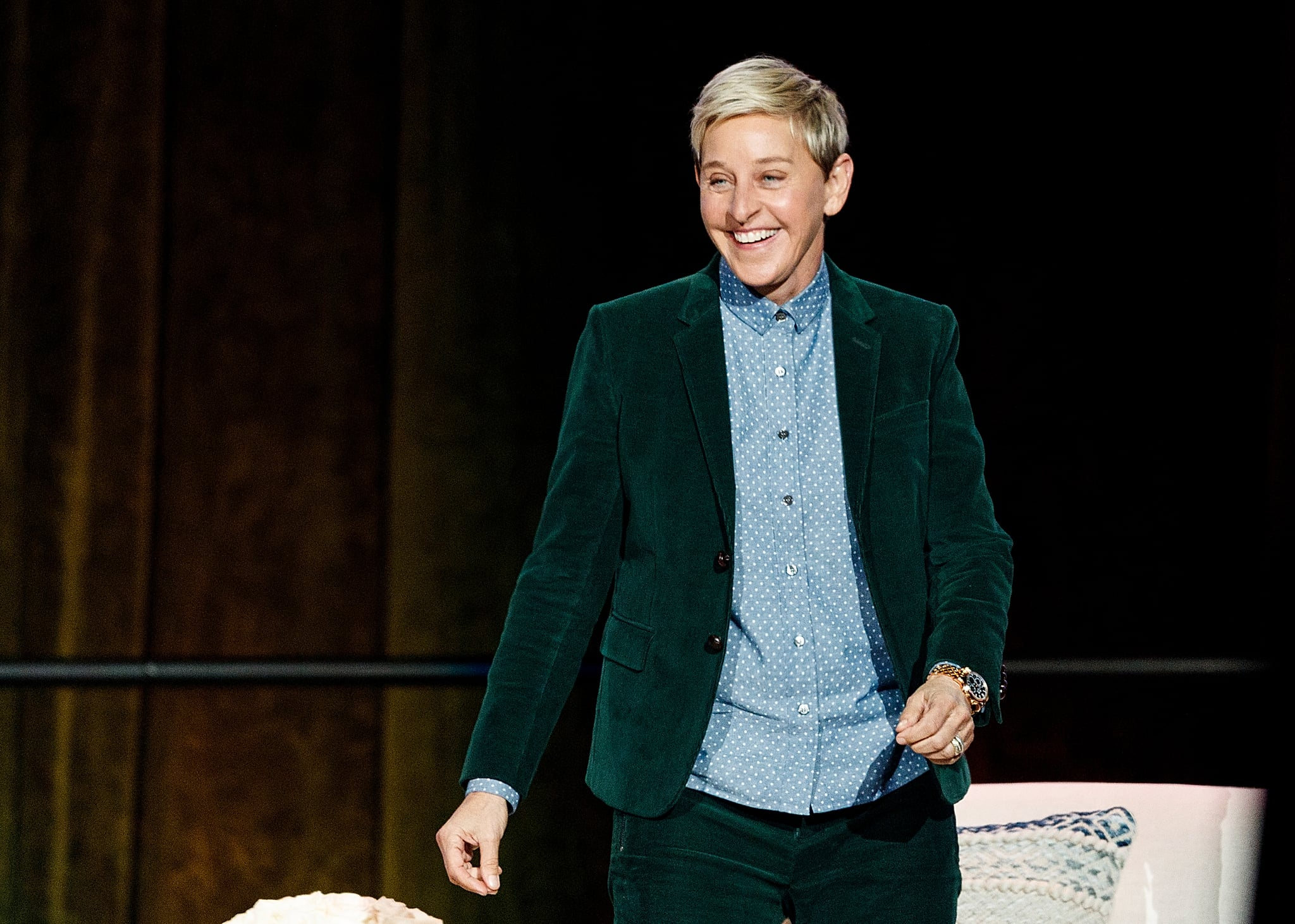 VANCOUVER, BC - OCTOBER 19:  Comedian Ellen DeGeneres seen onstage during