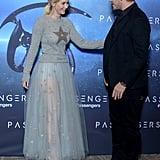 Jennifer Lawrence and Chris Pratt on Passengers Press Tour