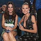 Sandra and Heidi Klum caught up in the audience.