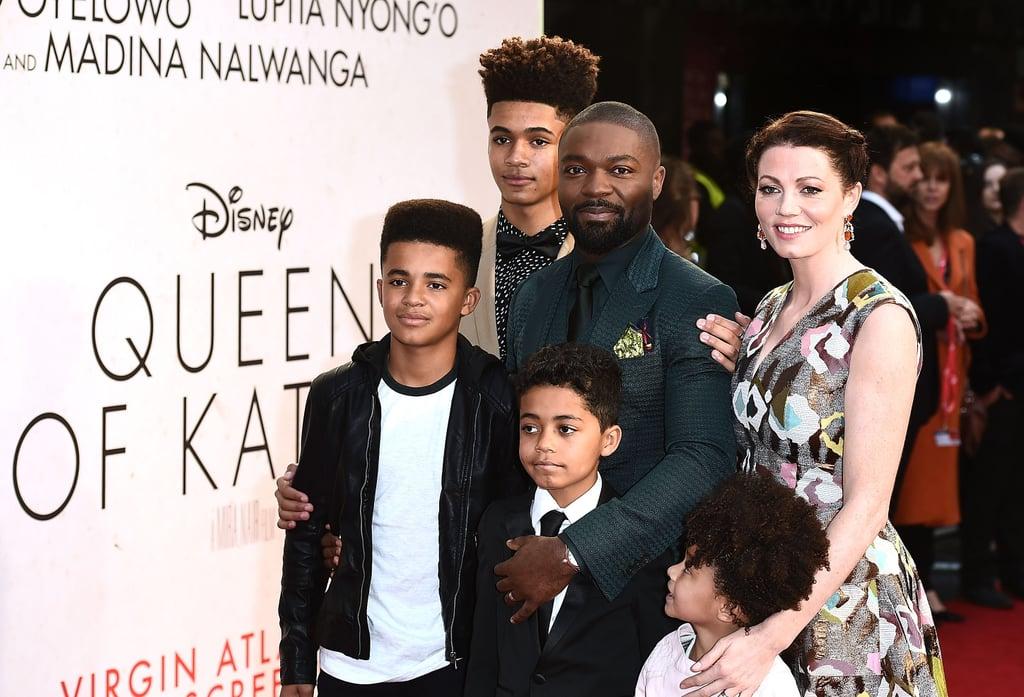 David Oyelowo and Family at Queen Of Katwe Screening 2016 ...