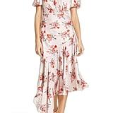 Amur Bettina Floral Print Asymmetrical Dress