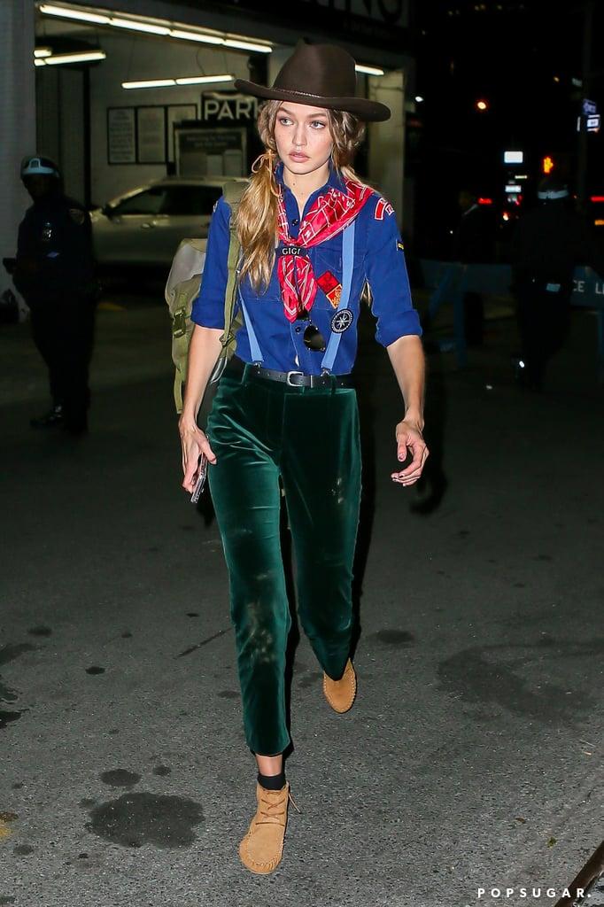 Gigi Hadid Cub Scout Halloween Costume 2016