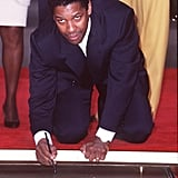 Denzel Washington at Mann's Chinese Theatre in 1998
