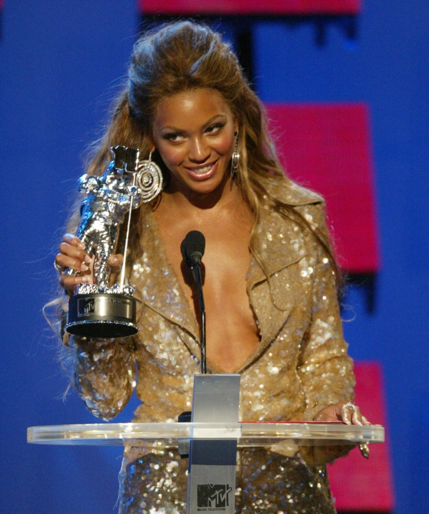 2003: Beyoncé scooped up three Moonmen.