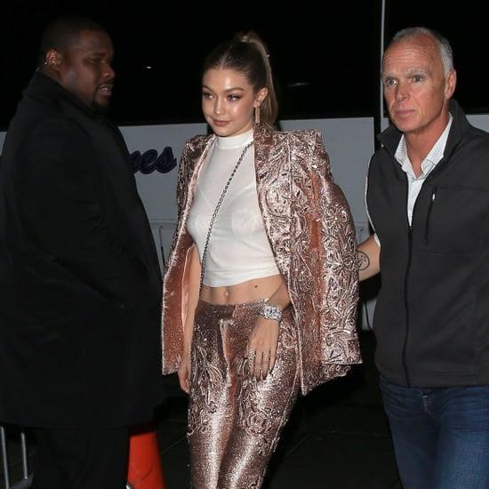 Gigi Hadid's Pink Versace Met Gala Afterparty Suit 2018