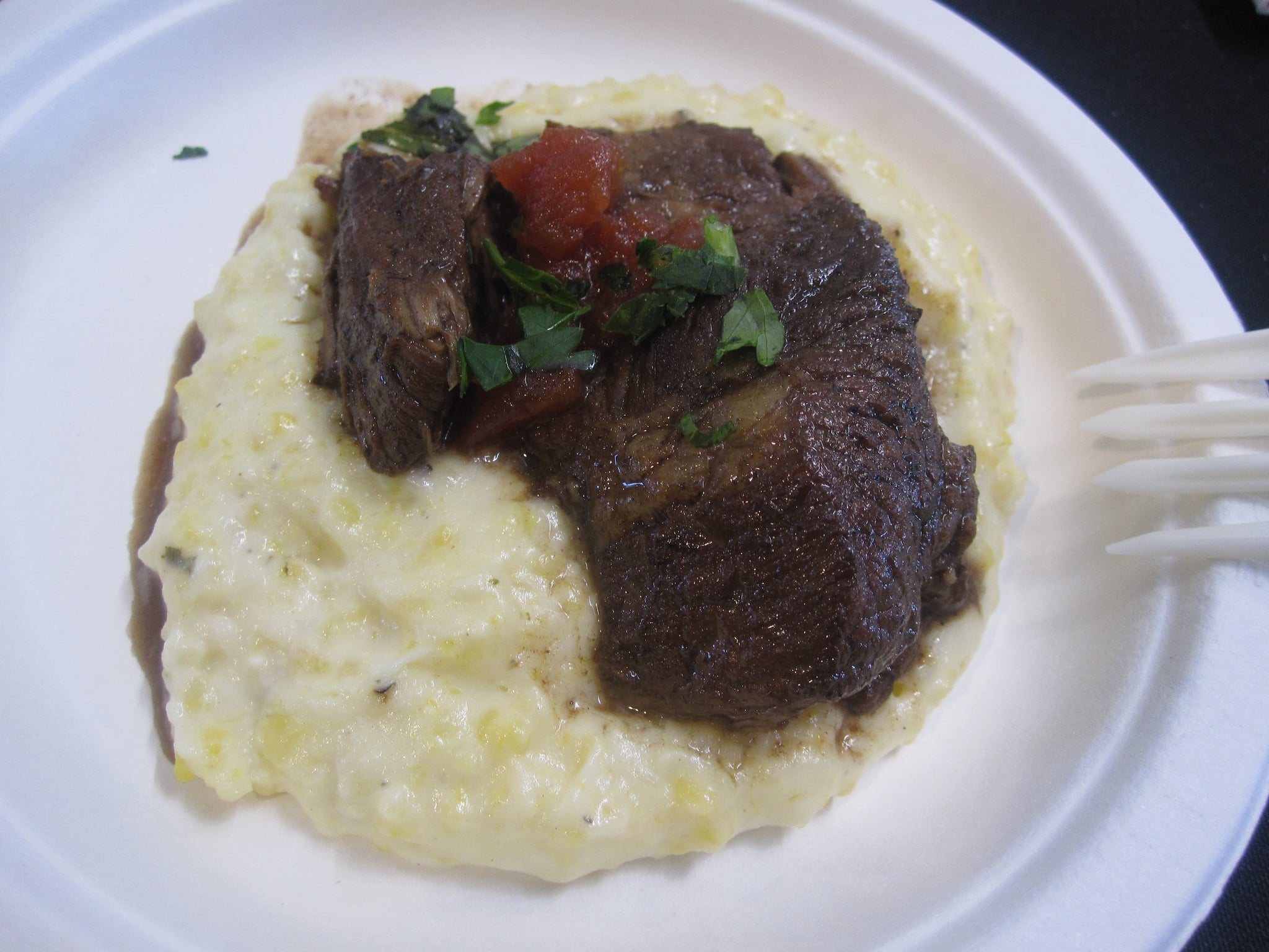 This braised lamb leg won the people's choice award, but I think it won because it was served on a bed of blue cheese grits. They were to die for.