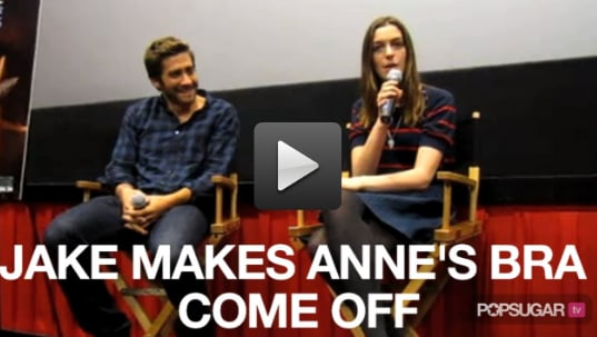 Video: Jake Gyllenhaal Makes Anne Hathaway's Bra Come Off!