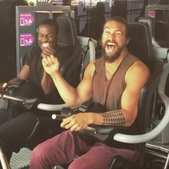 Jason Momoa and Aquaman Cast on Roller Coaster