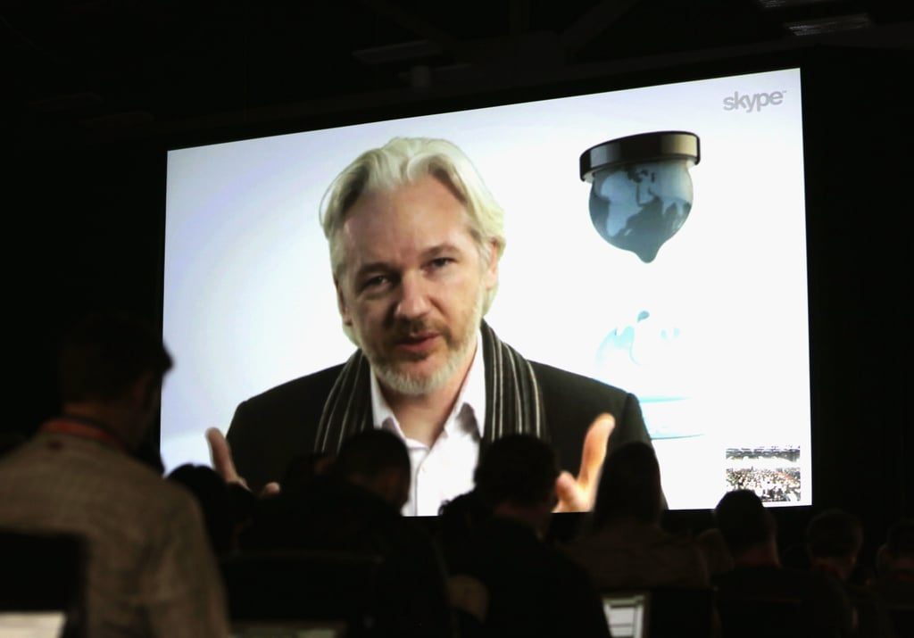 WikiLeaks founder Julian Assange participated in a panel discussion via video conference on Saturday.