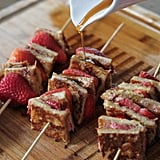 Stuffed Almond Butter and Strawberry French Toast Kabobs