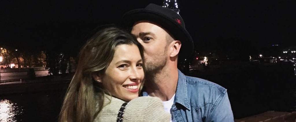 Justin Timberlake and Jessica Biel in Paris Pictures 2018