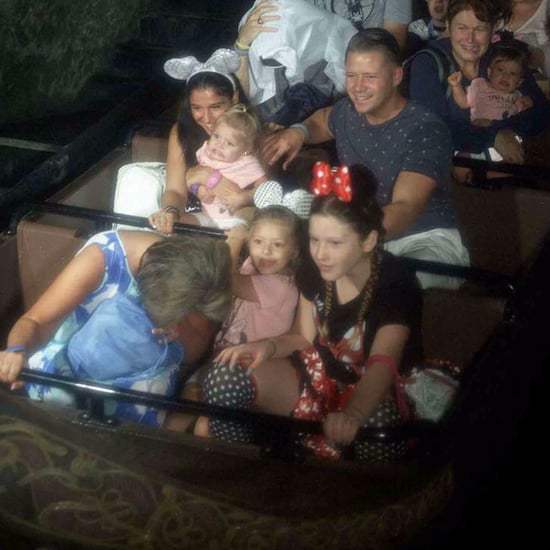 Girl Makes Funny Face on Disney World Ride