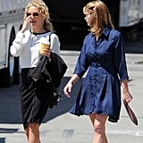 Kate Hudson and Ashley Greene chatted on set.