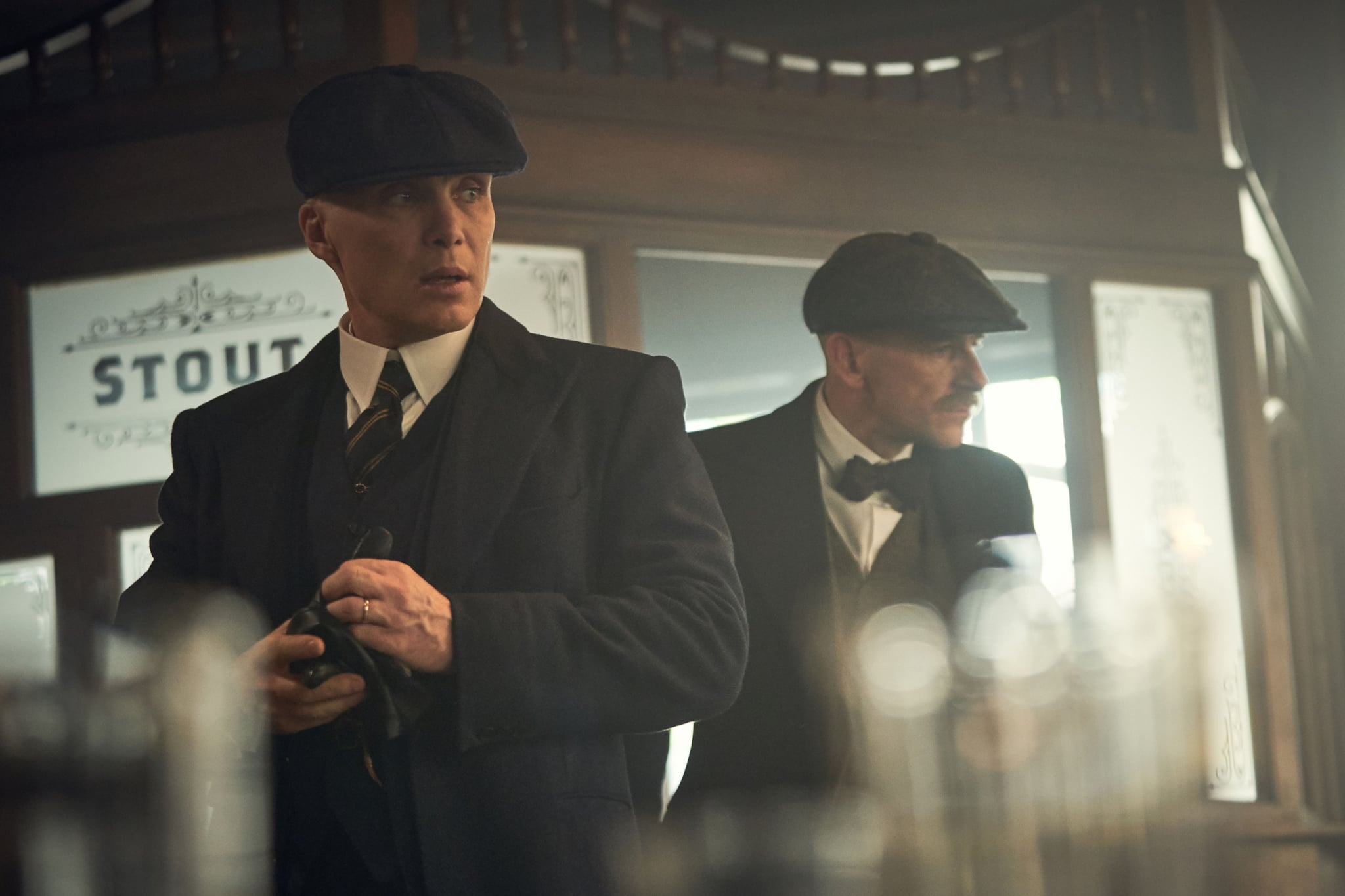 Programme Name: Peaky Blinders V - TX: 26/08/2019 - Episode: Peaky Blinders V Ep 2 (No. 2) - Picture Shows:  Tommy Shelby (Cillian Murphy), Arthur Shelby (Paul Anderson) - (C) Caryn Mandabach Productions Ltd. 2019 - Photographer: Robert Viglasky