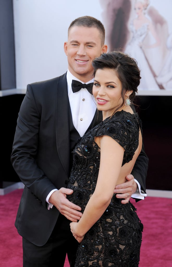 Channing Tatum held wife Jenna Dewan-Tatum's pregnant stomach on the red carpet in 2013.