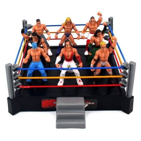 Mini Combat Action Wrestling Toy Figure Play Set