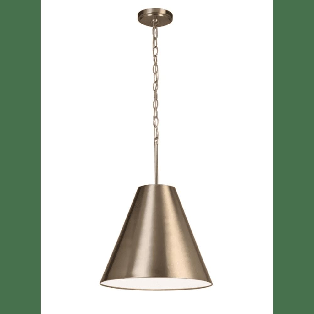 allen + roth Brushed Nickel Industrial Bell Pendant Light