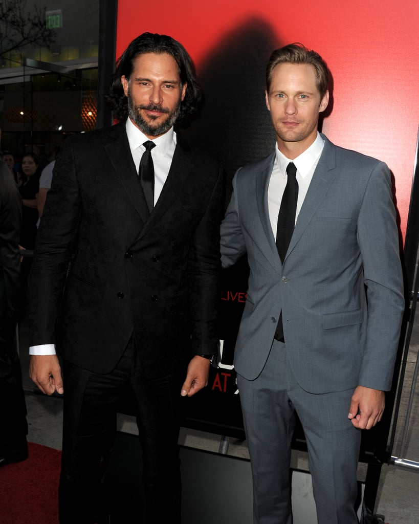 Joe Manganiello and Alexander Skarsgård linked up at their True Blood season six premiere in LA.