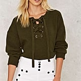 The Lace-Up Sweater