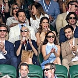 James Cook, Poppy Delevingne, Bel Powley, and Douglas Booth at Day 7 of Wimbledon