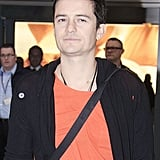 Orlando Bloom touched down in London.