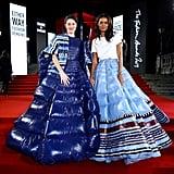 Shailene Woodley and Liya Kebede at the British Fashion Awards 2019