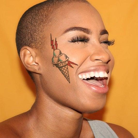 Gucci Mane Ice Cream Temporary Tattoo Celebrity Temporary Tattoos