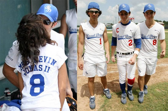 Photos of Nick Jonas, Kevin Jonas, Joe Jonas Playing Softball