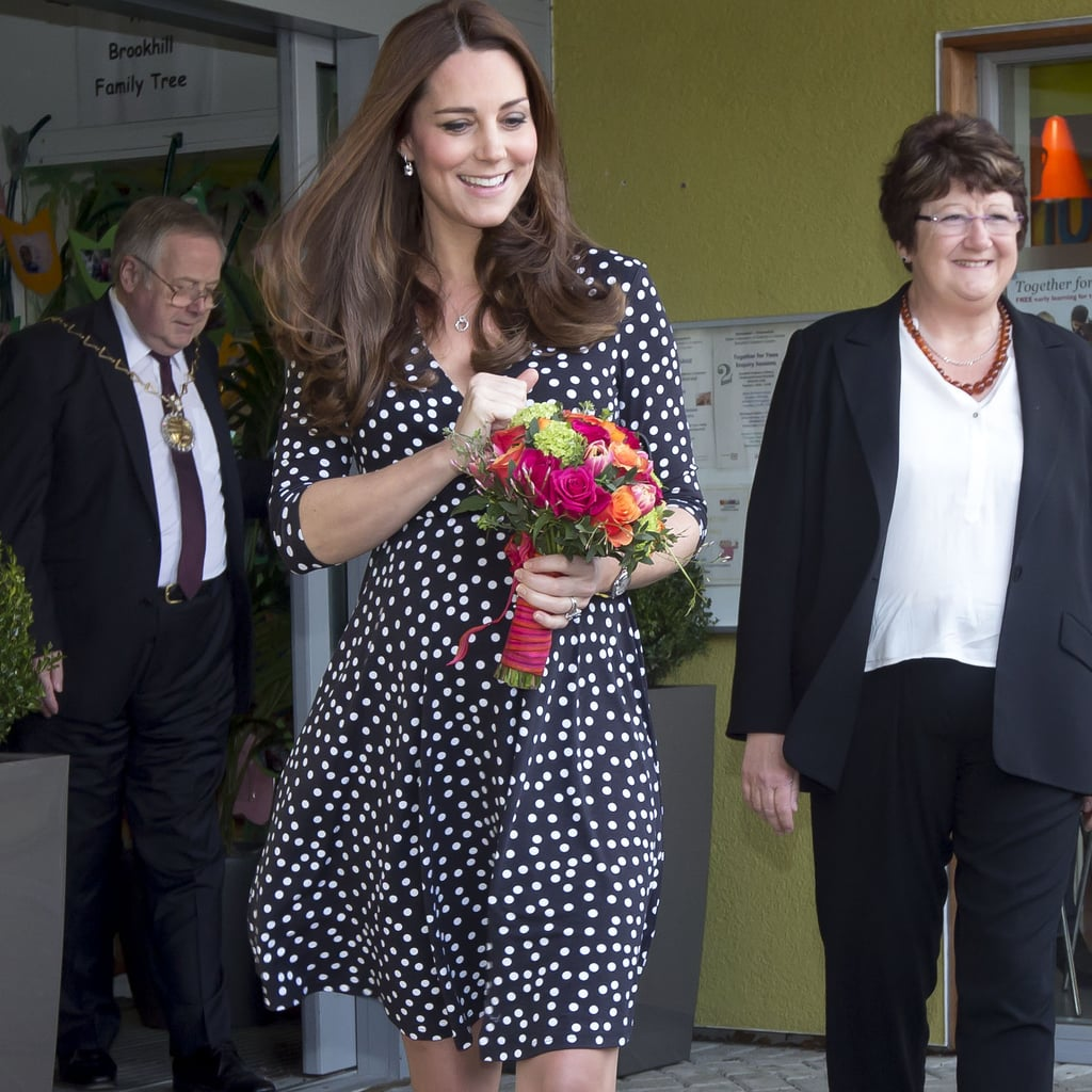 Kate Middleton Wears a Polka-Dot ASOS Maternity Dress