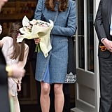 Kate Wearing Her Missoni Coat to Open a Charity Shop, 2016