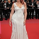 Iskra Lawrence's Rose Gold Hair at Cannes Film Festival