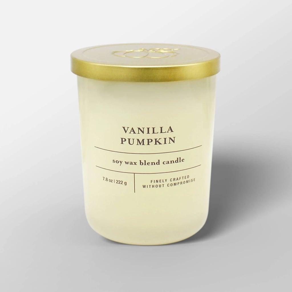 Vanilla Pumpkin Glass Jar Candle