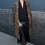 Lily Aldridge knew a little leopard was just the pop of print she needed for her outfit.
