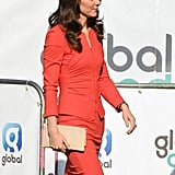Kate Middleton Wearing Red Armani Suit