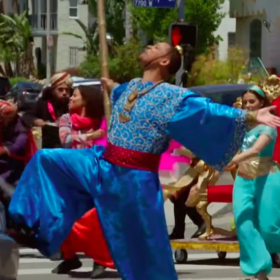 James Corden Crosswalk Musical With Cast of Aladdin Video