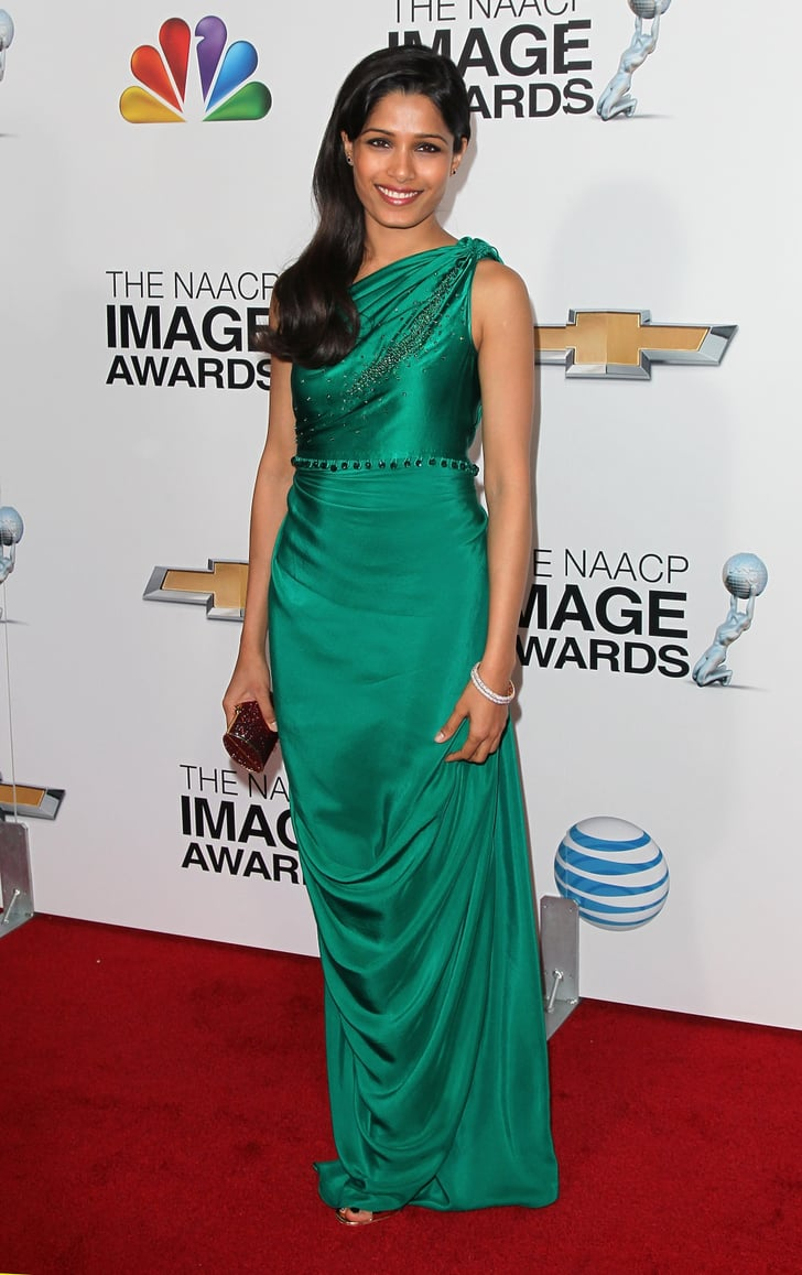 The Emerald Green Satin One Shoulder Gown Indian Designer