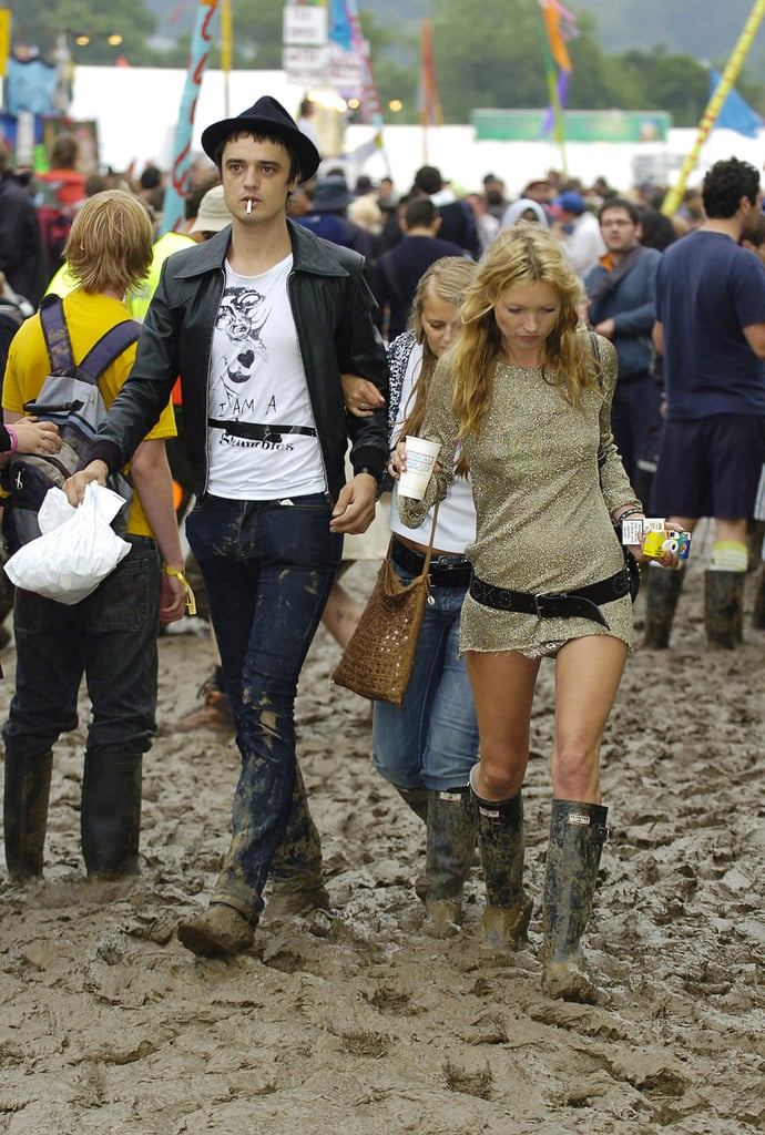 Kate Moss 2005 British Celebrity Fashion At Glastonbury Festival Popsugar Fashion Uk Photo 3