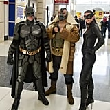 Batman, Bane, and Catwoman
