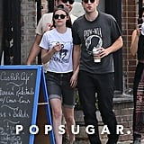 Robert Pattinson and Kristen Stewart held hands for an outing with friends in Los Feliz, CA.