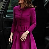 Kate Middleton Purple Oscar de la Renta Suit January 2019