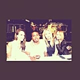 Style queens Jessica Alba (left) and Nicole Richie (right) hung out with Nas and friend Kelly Sawyer. That's one fashionable table, right?