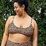 Aerie Leopard Scoop Bikini Top