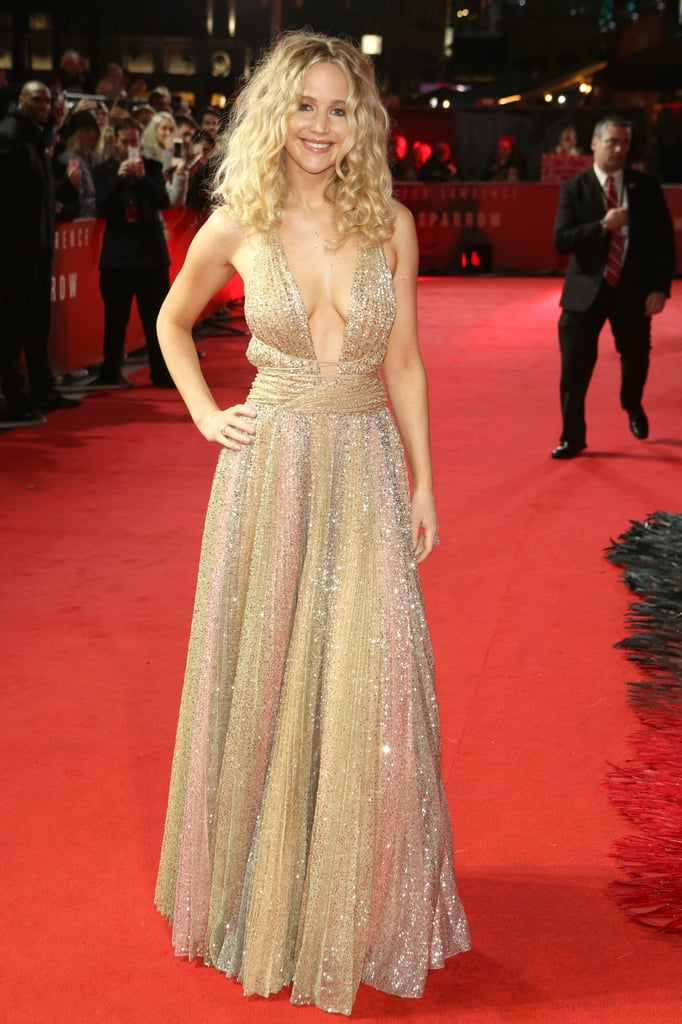 Jennifer Lawrence Dior Dress at Red Sparrow London Premiere