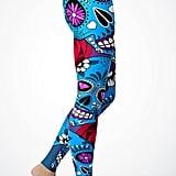Blue Candy Sugar Skull Leggings ($40)