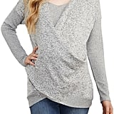 Maternal America Faux Wrap Maternity and Nursing Sweater