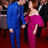 Sacha Baron Cohen and Isla Fisher at the 2020 Golden Globes