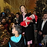 She attended a charity event in Central France around Christmas last year.